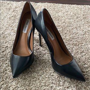 Close toed black heels